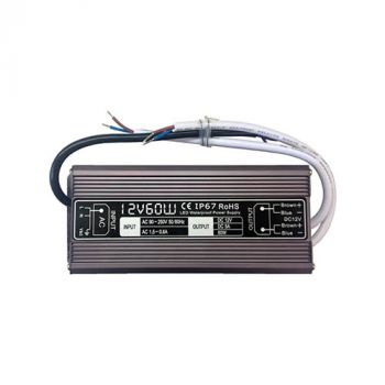 12vDC - 5amps (Regulated) Waterproof Power Supply