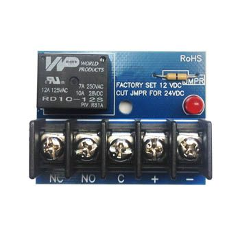 12vDC or 24vDC Activated Single Pull Double Throw 10 Amp Relay