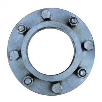 "4"" Pipe Flange - Silver"