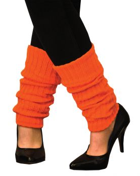 Neon Leg Warmers Adult - Neon Orange