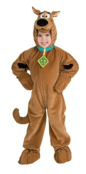Child's Deluxe Velour Scooby-Doo Costume - Child Medium