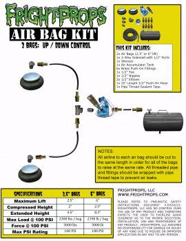 "Air Bag Kit:  2.5"" Lift -  2 Bags  - UP:DOWN Motion"