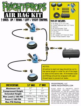 "Air Bag Kit:  2.5"" Lift -  2 Bags  - UP:DOWN:LEFT:RIGHT Motion"