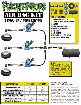 """Air Bag Kit:  2.5"""" Lift -  3 Bags  - Three Way Motion"""