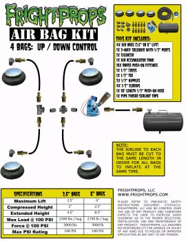 "Air Bag Kit:  2.5"" Lift -  4 Bags  - UP:DOWN Motion"