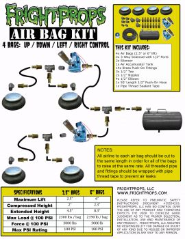 "Air Bag Kit:  2.5"" Lift -  4 Bags  - UP:DOWN:LEFT:RIGHT Motion"