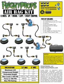 "Air Bag Kit:  2.5"" Lift -  6 Bags  - UP:DOWN:LEFT:RIGHT Motion"