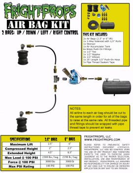 "Air Bag Kit:  6"" Lift -  2 Bags  - UP:DOWN Motion"