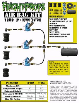 "Air Bag Kit:  6"" Lift -  3 Bags  - Three Way Motion"