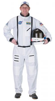 Men's Astronaut Costume - White - Adult Large