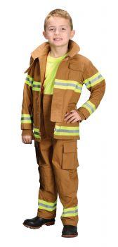 Boy's Firefighter Costume - Tan - Child S (4 - 6)