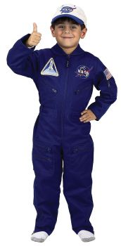 Boy's NASA Flight Suit With Cap - Child M (6 - 8)