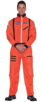 Astronaut Costume - Orange - Adult OSFM