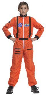 Boy's Astronaut Costume - Orange - Child L (10 - 12)