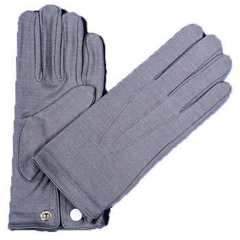 Men's Nylon Gloves With Snap - Gray
