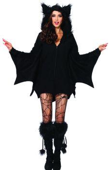 Women's Cozy Bat Costume - Adult Large