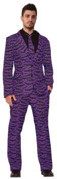 Men's Bat Suit & Tie - Adult OSFM