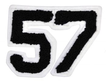 "4"" Patch Numbers Pair Assorted - Black"