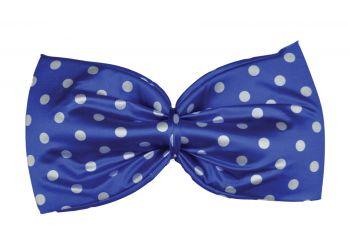 Jumbo Polka Dot Bow Tie - Blue