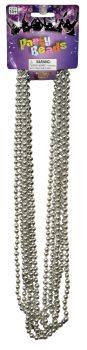 "33"" Beads 7.5mm - Pack Of 6 - Silver"