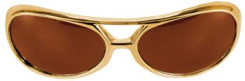 Rock N' Roll Glasses - Brown/Gold