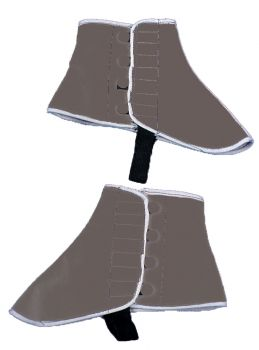 Adult Gray Felt Spats - Adult Shoe L/XL
