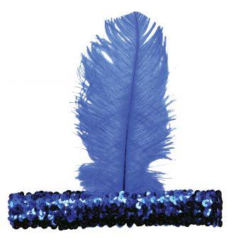 20s Flapper Headband - Blue