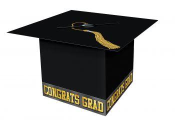 Cardboard Graduate Cap - Black