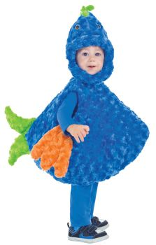 Big Mouth Blue & Green Fish Costume - Toddler Large (2 - 4T)