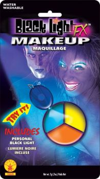 Blacklight Makeup - 3 Color Pod - Blue/Yellow/Orange