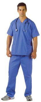 Men's Blue Hospital Scrubs - Adult OSFM
