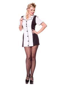 Bowling Dress Black/white Lg