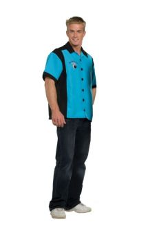 Bowling Shirt - Turquoise - Adult OSFM