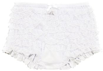 Boy Shorts Ruffled White