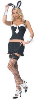 Women's Gangster Bunny Costume - Adult Medium