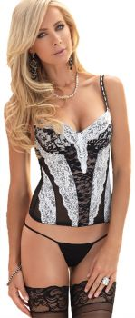 Bustier Black White Large