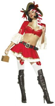 Women's Sexy Captain Booty Costume - Adult X-Small