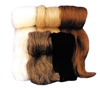 Wool Fiber White
