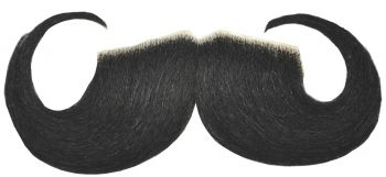 20s Mustache - Human Hair - Black