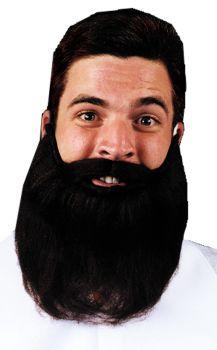 "8"" Beard & Mustache - Black"
