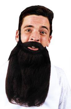 "14"" Beard & Mustache - Black"