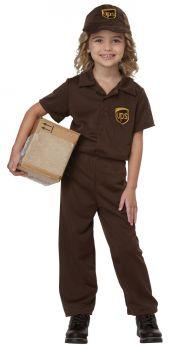 UPS Driver Toddler Costume - Toddler (3 - 4T)