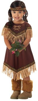 Lil Indian Princess Toddler Costume - Child XS (4 - 6)