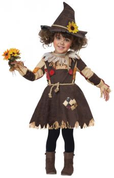 Pumpkin Patch Scarecrow Toddler Costume - Child XS (4 - 6)