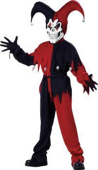 Boy's Evil Jester Costume - Child M (8 - 10)