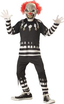 Boy's Creepy Clown Costume - Child XL (12 - 14)