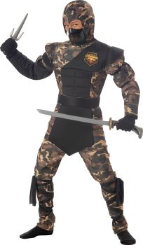 Boy's Special Ops Ninja Costume - Child S (6 - 8)