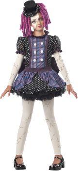 Girl's Broken Doll Costume - Child M (8 - 10)