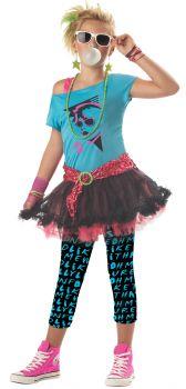 Girl's 80s Valley Girl Costume - Child S (6 - 8)
