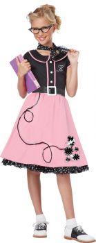 Girl's 50s Sweetheart Costume - Child S (6 - 8)